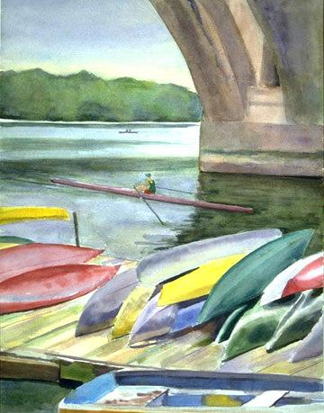 Under a Bridge on the Potomac